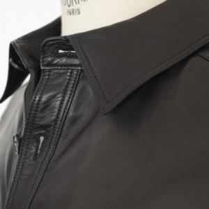 SERAPHIN leather shacket - Au Drôle de Zèbre